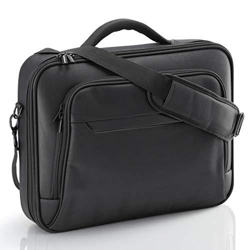 Hama Notebooktasche Business (Business Laptop-Tasche für Arbeit & Uni, passend für Notebooks, Laptops, Tablets mit Displaydiagonale 15,6 Zoll / 40 cm) schwarz