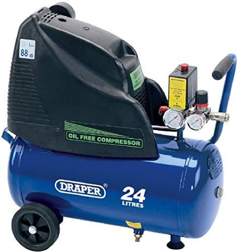 Draper 24978 24-Litre 230V 1.1kW Oil-Free Air Compressor