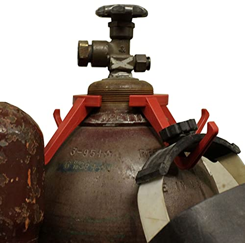 Hel-Hook Plastic Welding Hanger, Welding Accessory, Hang your Welding Helmet, TIG Torch, MIG Torch, Gloves and More (L-Red)
