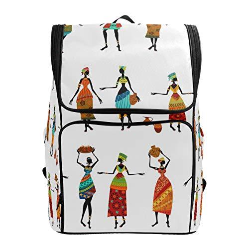 Fantazio Sac à Dos pour Ordinateur Portable pour Femme Africaine, Voyage, randonnée, Camping, décontracté, Grand Sac à Dos pour l'école