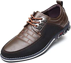 COSIDRAM Men Casual Shoes Luxury Comfortable Loafers Driving Flats Sneakers Shoes for Male Fashion Black Brown Leather Lace-up Business Work Office Dress