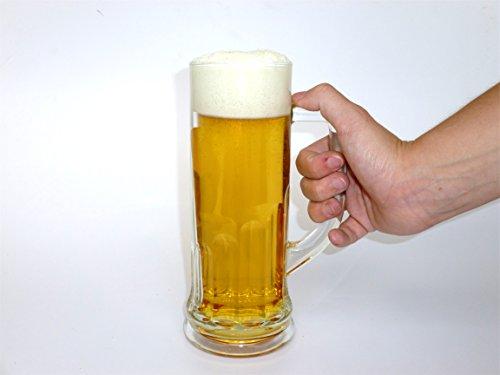ERRO Jarra de Cerveza 0,5Falsa–Wiesn Cerveza Oktoberfest, imitación Souvenir, Jarra de Cristal, Media Cerveza, Juego de jarras de Cerveza, unechtes, Deko Cerveza.