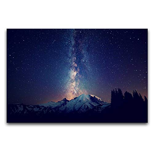 Leinwand-Kunst-Poster mit Weltraum, Sterne, Wandkunstdruck, modernes Familienschlafzimmerdekor, 30 x 45 cm