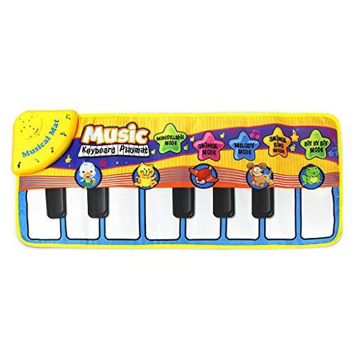KindTastatur Musik-Lernwerkzeuge Baby Frühe Erziehung Musik Klavier Teppich Keyboard Mat spielen für Baby Kleinkind
