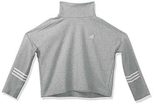 adidas Essentials - Mono de nieve con cuello redondo - IYC70, Essentials Comfortfunnelneck Sudadera, S, mediano, gris