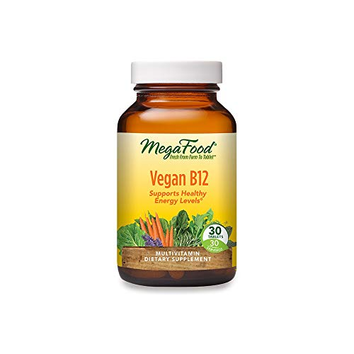 MegaFood, Vegan B12, Helps Support Healthy Energy Levels, Daily Multivitamin Dietary Supplement, Non-GMO, 30 mini-tablets (30 servings)