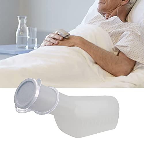 SpaceToy Urinflasche PP für Männer mit Verschluss, Herren Bettflasche, Urinal 1 Liter Fassungsvermögen, autoklavierbar, (milchig)