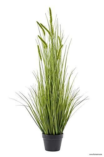 Klocke Kunstpflanzen Hochwertiges Dekogras im Topf - Wunderschön & Naturgetreu - Gras/Grasbüschel/Grasbündel/Kunstgras (Sehr Groß: 115cm, Grün)