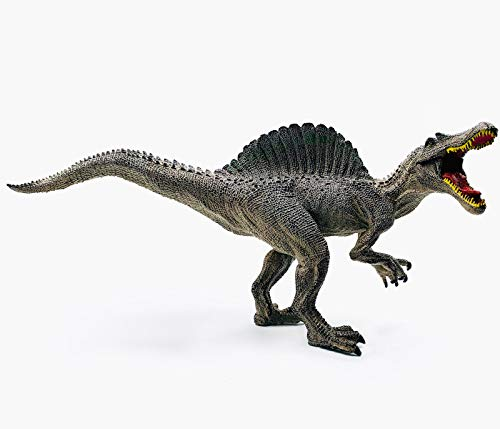 Gemini&Genius Spinosaurus Action Figures Jurassic World Park The Dinosaurs World Model Early Science Education and Collectible Toys for Dino Lovers and The Coolest Gift for Kids. (Gray)