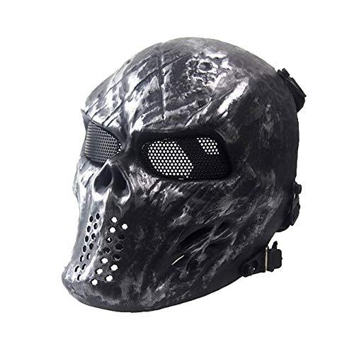 ATAIRSOFT Taktische Airsoft Paintball CS Schützen Vollgesichtsmaske für Cosplay Hockey BB Iron Masquerade (Gesicht)
