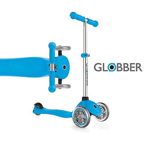 Globber V2 3 Wheel Adjustable Height Scooter Light Blue