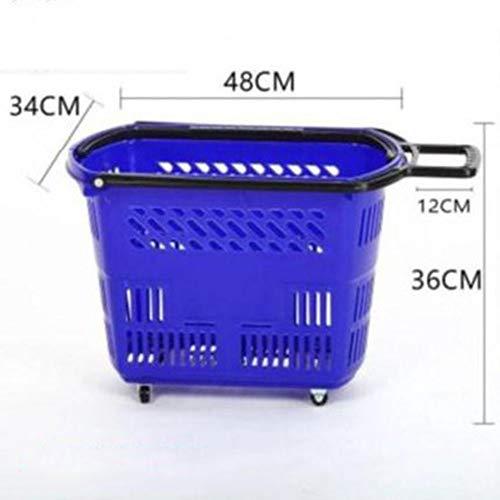 HDGZ Einkaufskorb Faltbar, Kühltasche Isolierkorb Picknickkorb mit Gepolsterten Griffen Cool Bag(F)