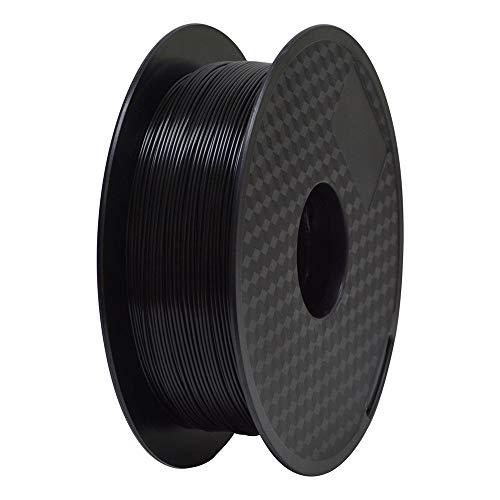 TEQStone Filamento ABS 1,75 mm 1 kg per stampanti 3D e penne 3D in confezione sottovuoto (nero), 1