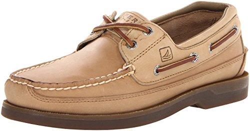 Sperry Mens Mako 2-Eye Boat Shoe, Oak, 9