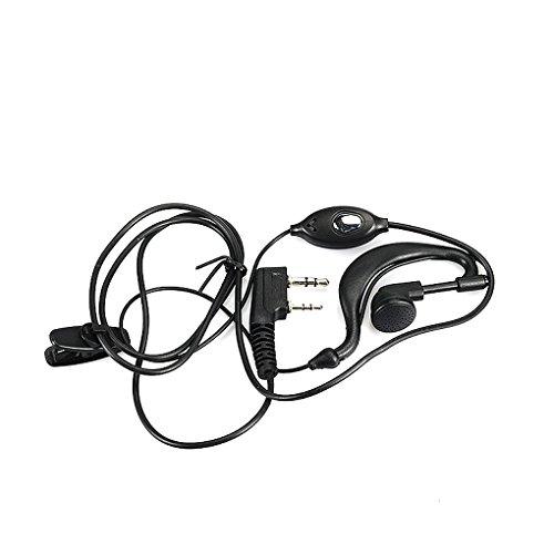 Vkospy 2 Pin PTT Auricolare Auricolare Interphones Mic per Tipo Baofeng UV-5R più BF-888s Radio bidirezionale K