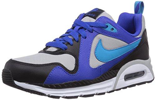 Nike Air Max Trax 644453 Jungen Laufschuhe Training, Blau (Metallic Silver/Blue Lagoon-Lyon Blue-Black), Gr. 37.5