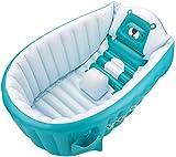 ZXHFDC Bañera Inflable para bebés, Piscina de Ducha Plegable para recién Nacidos, bañera Antideslizante para bebés, Lavabo de Ducha de Aire de Viaje para bebés de 0 a 3 años, (Rosa, Azul)