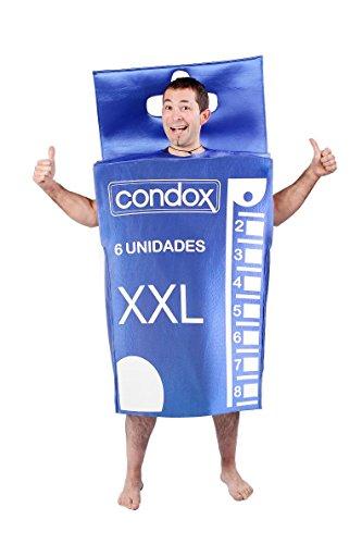 Nines d\'Onil Kondompackung-Kostüm, für Erwachsene, blau (D8654)