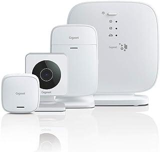 Sistema de Alarma Gigaset - con Aplicación en el Móvil - sin Cuotas - Detector de Movimiento - Cámara Infrarroja HD - Sensor de Puerta