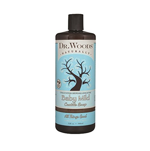 Dr. Woods Unscented Body Wash Baby Mild Liquid Castile Soap, 32 Ounce