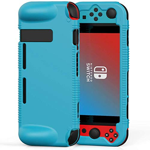 Semeving Protective Silicone Case for Nintendo Switch,Soft Protective Cover with Ergonomic Grip Design,Shock-Absorption&Anti-Scratch