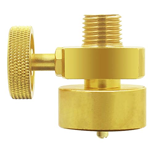 MENSI Propane 1LB Tank Disposal Cylinder Bottle Adapter Needle Control Valve with 1/4