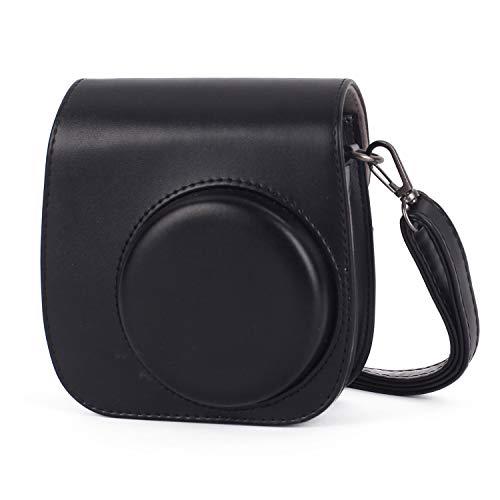 Leebotree Sofortbildkameras Tasche Kompatibel mit Instax Mini 11 Sofortbildkamera aus Weichem Kunstleder mit Schulterriemen & Tasche (Schwarz)