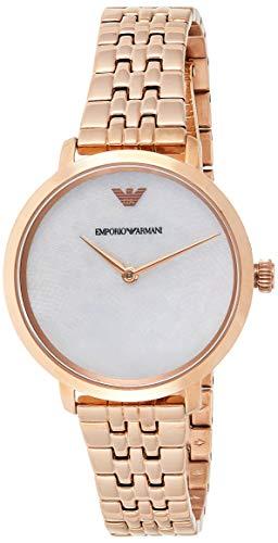 Emporio Armani Reloj Analógico para Mujer de Cuarzo con Correa en Acero Inoxidable AR11158
