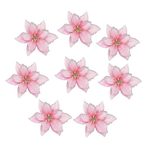 LUCHAO Künstliche Blumen for Weihnachtsbaum-Dekoration DIY Ornamente Startseite Wedding Xmas Party-Dekoration (Farbe : F05, Größe : 10pcs)
