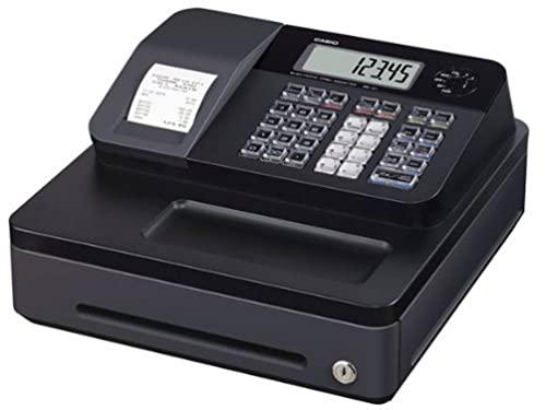 Casio SE-G1SB cash register with small cash drawer, black