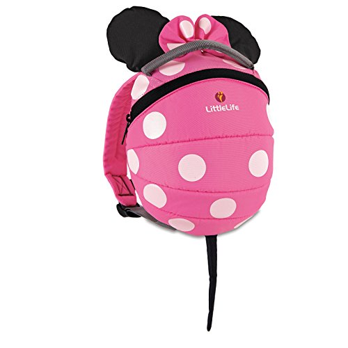 Little Life Disney Kleinkind-Rucksack mit Sicherheitszügeln Einheitsgröße Rosa Minnie Maus