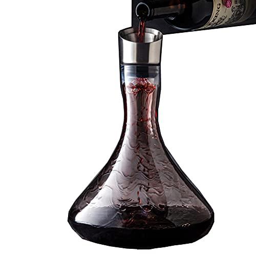 Decantador De Vino De 1000 ML, Decantador De Vino Cristal, Copas De Champán, Botella Decantadora, Los Mejores Regalos Para Padre Y Esposo,B