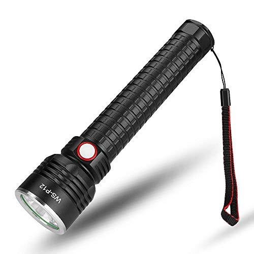 Detector de luz de la Linterna,Linterna de Fotos LED para Exteriores, Linterna de Ajuste telescópico-Negro,Linterna LED