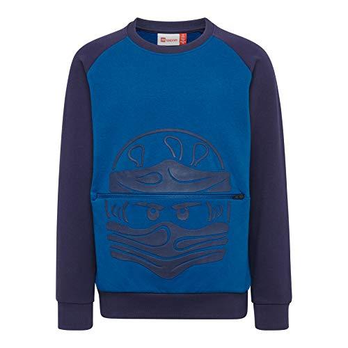 LEGO Wear Boy Lwsiam Sudadera, Azul (Blue 553), 104 para Niños