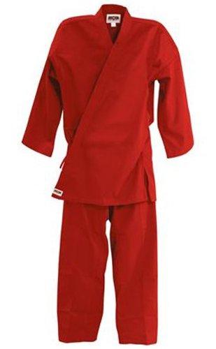 Macho 8.5oz Traditional Karate Gi / Uniform - Red / Size 6