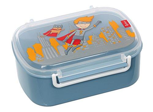 sigikid Jungen, Brotdose mit buntem Druck, Brotzeitbox Pille Power, Blau, 25005