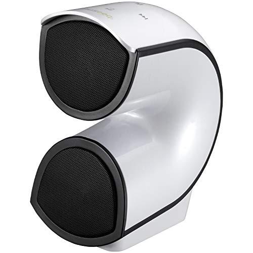 Museeq Altavoces inalámbricos portátiles Bluetooth 4.2 con Graves mejorados de Alto Volumen 4400 mAh 10 W Sonido estéreo Integrado micrófono para Playa, Fiesta en casa y Viajes, Blanco, 1