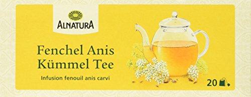 Alnatura Bio Fenchel-Anis-Kümmel Tee, 20 Beutel, 45 g
