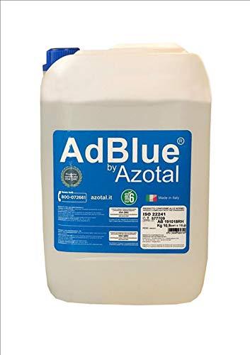 AZOTAL N. 15 AdBlue by urea al 32,50% Conforme alla Norma ISO 22241 Litri 10 Conforme alle normative Euro 4, Euro 5, Euro 6 + 2 BECCUCCI TRAVASATORI RIUTILIZZABILI in Omaggio