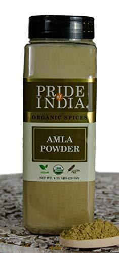 El orgullo de la India Amla (grosella espinosa india) Planta - 20 oz (567 g) Hierba grosella pura y vegetariana certificada: mejor para batidos, encurtidos, salsas picantes y arroz: el valor.