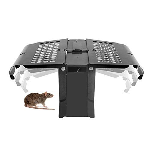 EnweKapu Trampa para Ratones,Trampas para Ratas Electricas,Trampa Ratones Vivos,Reutilizable,Detección de Infrarrojos,Lavable,para Ratones,...
