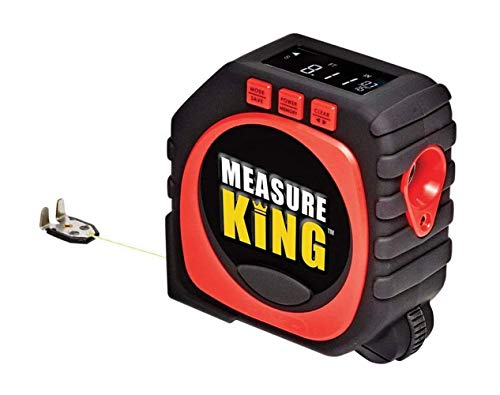 SUQ Metro a nastro digitale 3 in 1, strumento di misurazione della modalità ruota in modalità stringa, laser righello di alta precisione, misurazione continua, calibrazione regolabile