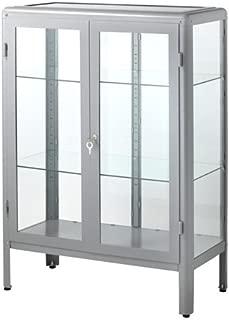 IKEA Glass-Door Cabinet, Gray Size 31 7/8x44 1/2