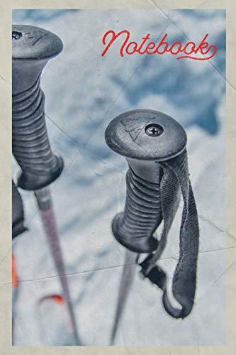 Notebook: Bastones de esqui Off piste skier Gorgeous Composition Book Journal Diary...
