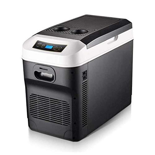 NXYJD Mini Nevera, refrigerador Portable eléctrica Refrigerador/Calentador de Alimentos, Personal termoeléctrica Dual Calentamiento Enfriamiento Digital Enchufe el refrigerador for el Coche