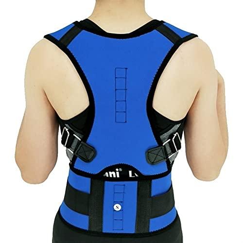Cinturón de Apoyo para la Espalda Relajante Mujeres Corrector Corrector Postura Back-Support Vendaje Hombro Corsé Atrás Soporte Postura Corrección Cinturón (Color : A, Size : XXL)
