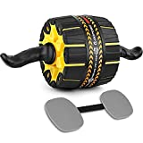 Dopobo Ultra-Wide Ab Roller Wheel with Built-In Resistance, Ab Carver Fitness Equipment, Abs Workout Equipment, Home Workout Equipment for Men Women, Ab Workout Exercise Roller with Knee Pad
