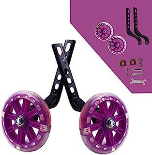 Kids Bike Stabilisers Boys Girls LED Training Wheels 12-20/'/' Wheel Balance Pink