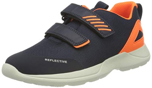 Superfit Baby Jungen Rush Sneaker, (Blau/Orange 80), 24 EU