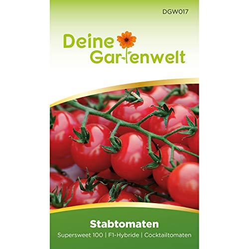 Stabtomate Supwersweet 100 F1 Tomatensamen | Samen für Tomaten | Stabtomatensamen | Saatgut für Supersweet-Tomaten